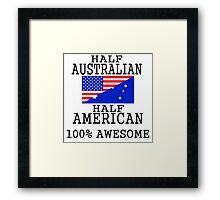 Half Australian Half American Framed Print