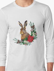 Christmas Hare Long Sleeve T-Shirt