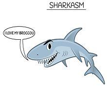 Sharkasm I Love My Broccli by teesforyou