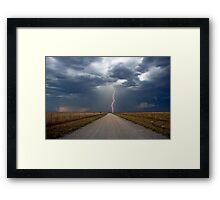 Lightning Strike in the Great Plains (Bartlesville, Oklahoma, USA) Framed Print
