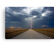 Lightning Strike in the Great Plains (Bartlesville, Oklahoma, USA) Canvas Print