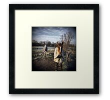 Winter Horses Framed Print