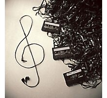 Feel the music Photographic Print