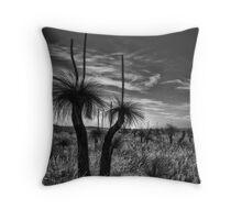 Grass Tree Sundowner Throw Pillow
