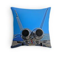 Super Hornet, tail end Throw Pillow