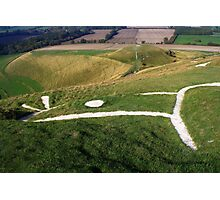 at the head of the Uffington Horse Photographic Print