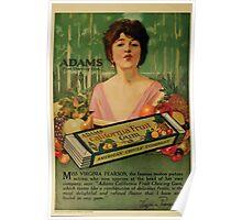 Advertisements Photoplay Magazine July through December 1919 0292 Adams California Fruit Gum Poster