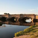 Ross to Hobart Bridge Reflections. by Ross Campbell