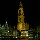 Antwerp by night by chrisdeschepper