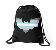 Demiboy Pride Bat Drawstring Bag