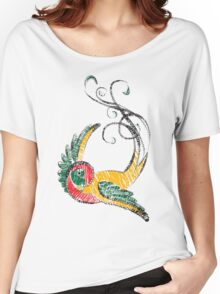 Scribbly Swallow Women's Relaxed Fit T-Shirt