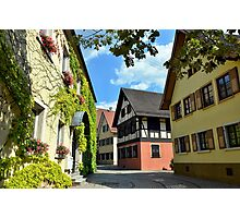 Alley in a small town in Germany Photographic Print