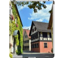 Alley in a small town in Germany iPad Case/Skin