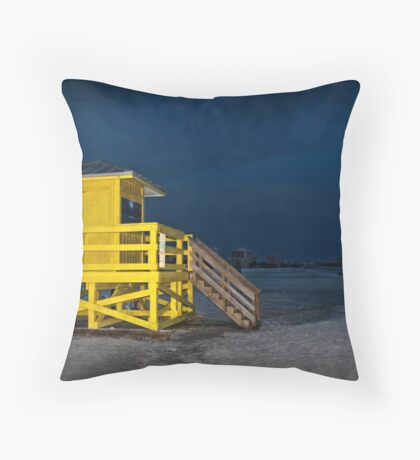 Goodnight Siesta Key Throw Pillow