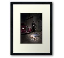 Who did it? Framed Print