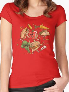 Tasty Showdown Women's Fitted Scoop T-Shirt