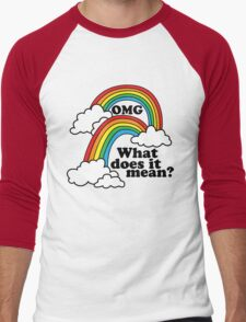 Double Rainbow - OMG Men's Baseball ¾ T-Shirt