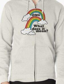 Double Rainbow - OMG Zipped Hoodie