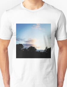 Trees and Clouds in Boothbay Unisex T-Shirt