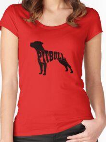 Pitbull black Women's Fitted Scoop T-Shirt
