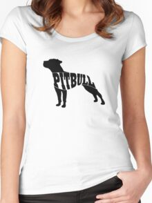 Pitbull black Women's Fitted Scoop T-Shirt