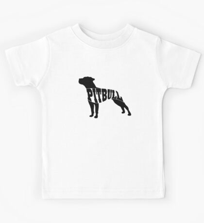 Pitbull black Kids Tee