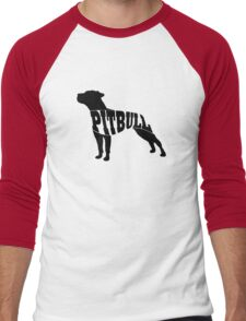 Pitbull black Men's Baseball ¾ T-Shirt