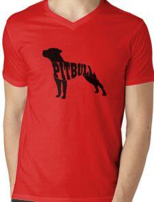 Pitbull black Mens V-Neck T-Shirt