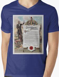 J. S. Smith & Co. copy of the Emancipation Proclamation Mens V-Neck T-Shirt