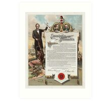 J. S. Smith & Co. copy of the Emancipation Proclamation Art Print