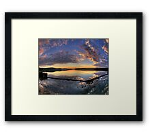 In A Reflective Mood - Narrabeen Lakes, Sydney - The HDR Experience Framed Print