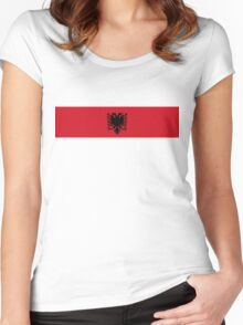 albania country long flag Women's Fitted Scoop T-Shirt