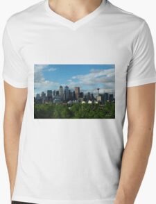 Calgary Skyline Mens V-Neck T-Shirt