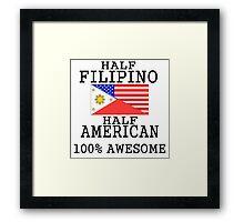 Half Filipino Half American Framed Print