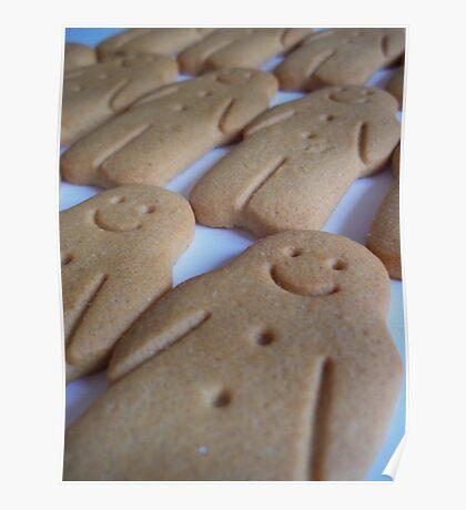 Gingerbread Men Poster
