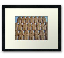 Gingerbread Army Framed Print