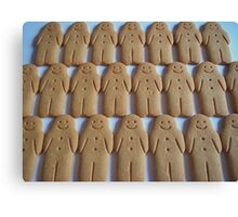 Gingerbread Army Canvas Print