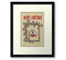 Merry Christmas .. a cute card Framed Print