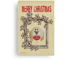 Merry Christmas .. a cute card Canvas Print