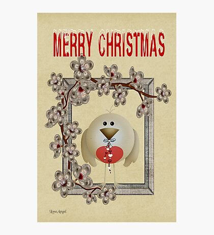 Merry Christmas .. a cute card Photographic Print