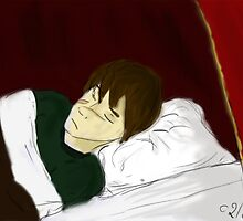Sleeping Remus Lupin by ClaireStag