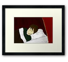 Sleeping Remus Lupin Framed Print