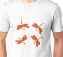 Pretty dancing orange dragonflies Unisex T-Shirt