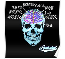 Skate On The Brain ~ Anachrotees Design Poster