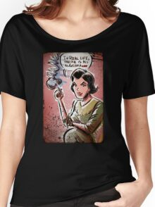 Audrey Horne, Twin Peaks, Art, David Lynch, Sherilyn Fenn, Fire Walk With Me, Movie, Poster, weird, tv, show, joe badon, avant-garde Women's Relaxed Fit T-Shirt
