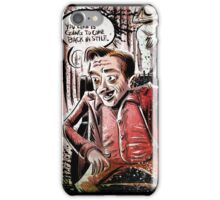 Twin Peaks, Dwarf, David Lynch, Michael , Fire Walk With Me, The Man from Another World, the man from another, Black Lodge, Red Room, illustration, little, person, backwards, talking, joe badon iPhone Case/Skin