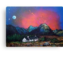 The Black Rock Cottage, Glen Coe, Scottish Highlands. Canvas Print