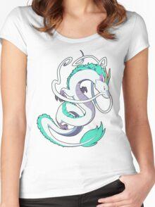 Studio Ghibli - Spirited Away - Haku (Dragon) Women's Fitted Scoop T-Shirt