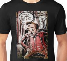 Twin Peaks, Dwarf, David Lynch, Michael , Fire Walk With Me, The Man from Another World, the man from another, Black Lodge, Red Room, illustration, little, person, backwards, talking, joe badon Unisex T-Shirt