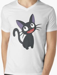 Studio Ghibli - Kiki's Delivery Service - Jiji Mens V-Neck T-Shirt